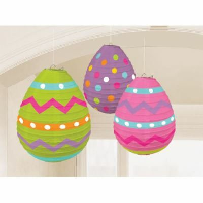 3pk Egg Lantern Decorations Easter Spring Party  (Easter Lantern Decorations)