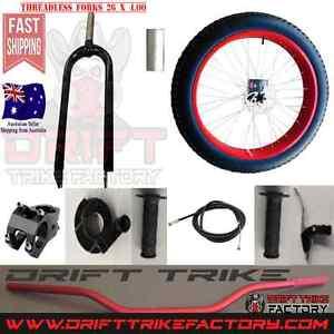 Big Wheel Drift Trike Front End Kit 26x4 Tyre Brake Forks Wheel + North Lakes Pine Rivers Area Preview