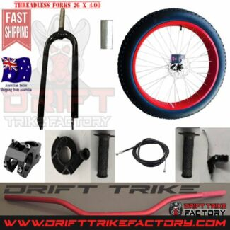 Big Wheel Drift Trike Front End Kit 26x4 Tyre Brake Forks Wheel +