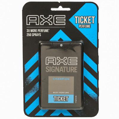 AXE Signature Champion Ticket Body Perfume Pocket Perfume 17ml pack 250 spray