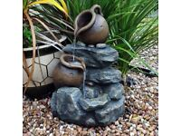 2 Tier 2 Jug Rock Garden Water Feature (FREE LOCAL DELIVERY)