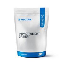 5kg MYPROTEIN Impact Weight Gainer Powder UNFLAVOURED, New & Sealed (protein, bcaa, creatine