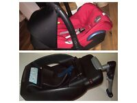 Maxi cosi cabrio car seat and easybase (will sell separate)