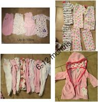 6-12 girl clothing and sleeper sacs