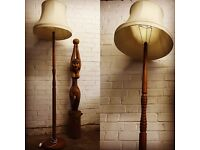 Beautiful Antique standard lamp base with shade