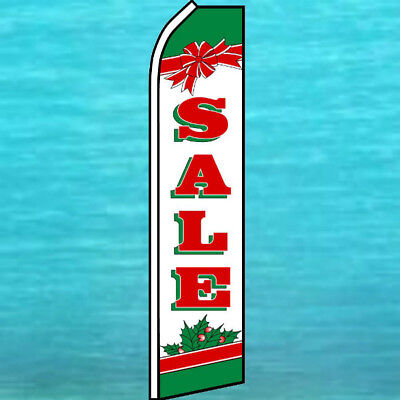 Sale Christmas Flutter Flag Tall Curved Advertising Sign Feather Swooper Banner