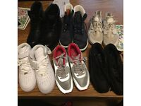 NIKE air and huarache ,timberlands, and CAT