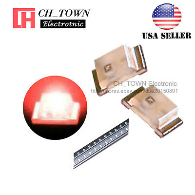 100pcs 0603 1608 Red Light Smd Smt Led Diodes Emitting Ultra Bright Usa