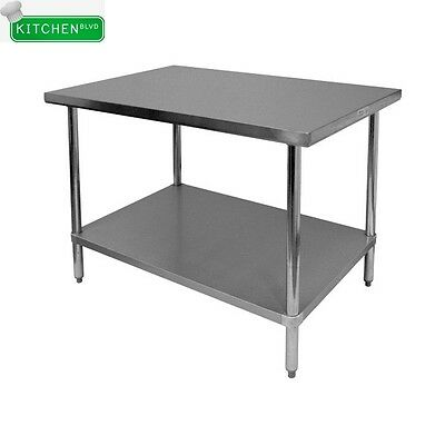 Flat Top Work Table All Stainless Steel 24x24