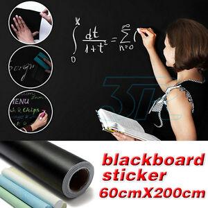 60×200cm Blackboard Sticker Removable Vinyl Decal Wall Chalk Board Label AU