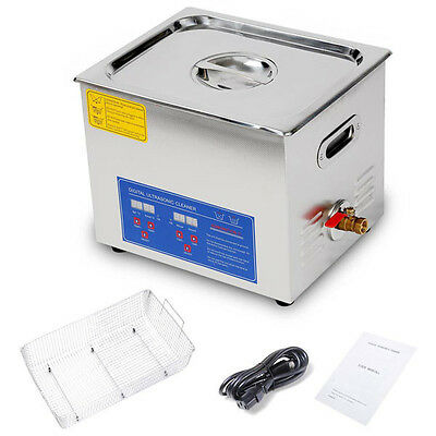 Used 10L Ultrasonic Cleaner 240W Industrial Parts Carb Carburetor Ultrasonic