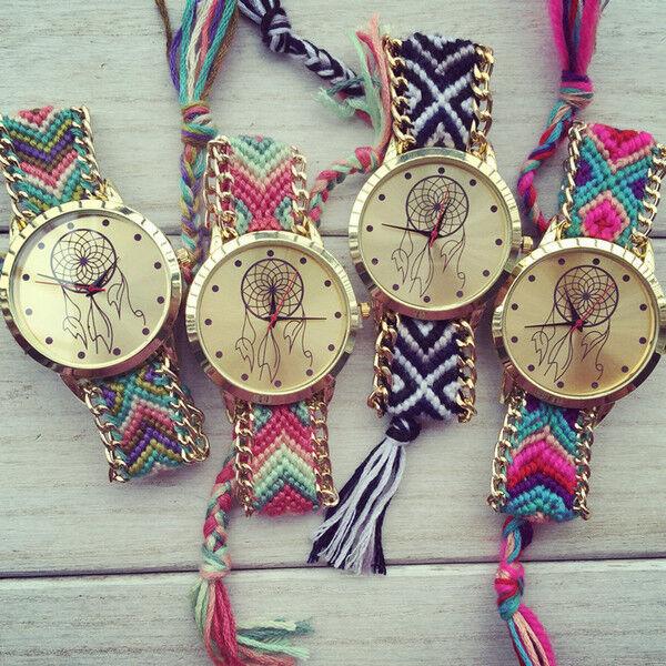 Braided Woven Friendship Bracelet Watch