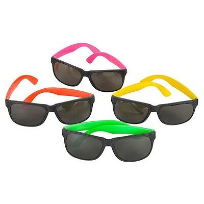 Neon Sunglasses Party Favor Unisex Shades Assorted Colors (BULK LOT OF 48X)