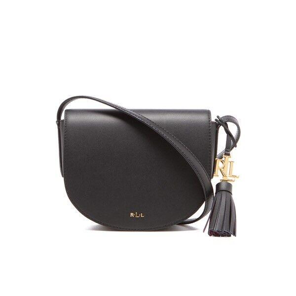Lauren Ralph Lauren Crossbody Leather Saddle Bag Handbag-NEW ... da6665a06e459