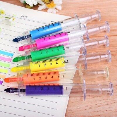 6pcs Syringe Highlighters Pen Marker Needle Ball Point Nurse Hospital Marker Pen](Syringe Pen)
