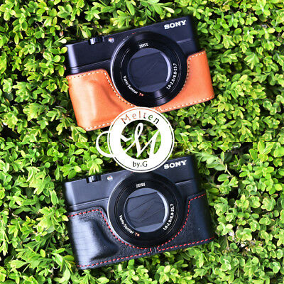 [Melten] Genuine Leather Camera Half Case For Sony Rx100M3 Rx100M4 Rx100M5