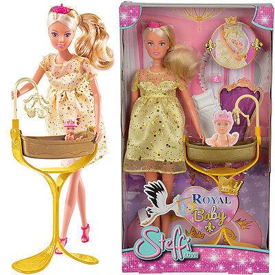 Simba Steffi Love Royal Baby Modepuppe Schwangere Puppe Königliches Baby NEU