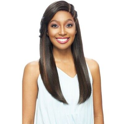 VANESSA HUMAN HAIR BLEND BRAIDED DOUBLE PART LACE FRONT WIG - TJ3 KAYO