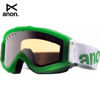 72043308a9a ANON FIGMENT PAINTED Ski Snowboard Goggle Limefish Silver Amber Lens NWB  Reg 90