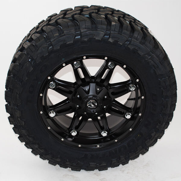 "18x9 Fuel Hostage D531 Matte Black Toyo Mt 33x12.50r18 33"" Wheels Tires"
