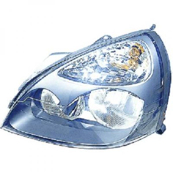 Scheinwerfer links vorne RENAULT CLIO 01/04-09/05 TYC/DEPO H7+H1 für reg e