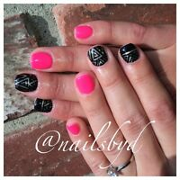 Professional gel nails ! Same day appts available!