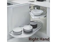 Right hand fly moon shelf unit