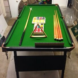 Ambassador snooker tbl 6ftx3ft