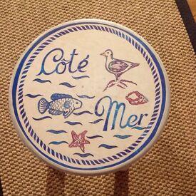 Bathroom Stool - seaside theme