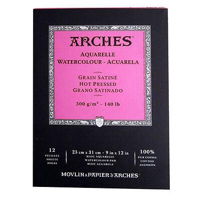 Canson Arches Aquarellblock 12 Blatt 300g 23x31cm