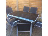 9pc 6 chair patio set / garden furniture £45