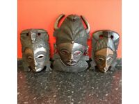 Various selection of wooden masks / ornaments excellent condition