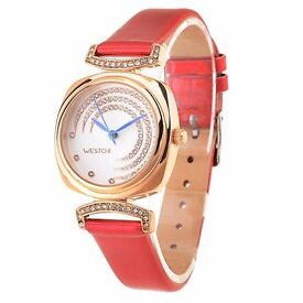 WESTCHI 3117L Water Resistance Diamond Decoration Female Quartz Watch