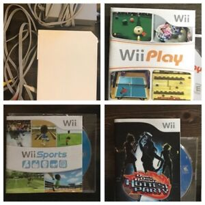 Wii Console + 3 Games