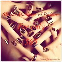 Shellac Manicure & Pedicure Promo only for $65!!!!!!!