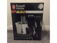 Brand New Russell Hobbs 20365 Aura Whole Fruit Juicer, 550W - White