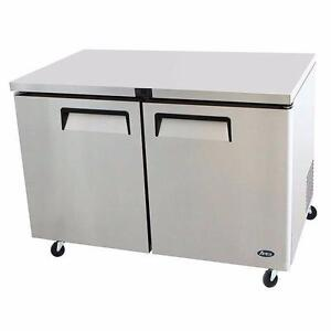 "Refrigerated Under counter Flat top Prep Table 48"" Atosa"