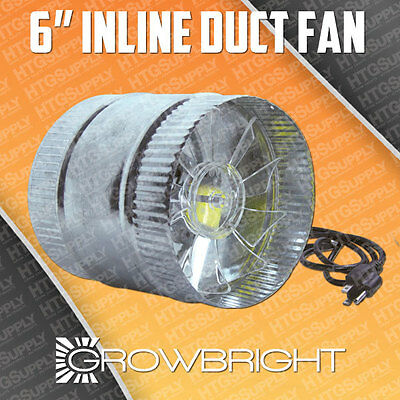 6 Inline Duct Fan 1 Quality On Ebay Exhaust Booster Blower Six Inch Air Cool