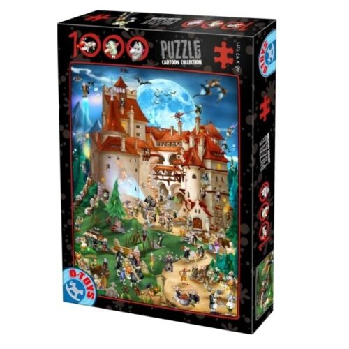D-Toys 1000 Piece Jigsaw Puzzle - Cartoon Collection Vampire Party