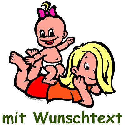 GESCHWISTERAUFKLEBER bunte Babyaufkleber Aufkleber Baby Autoaufkleber BG7-MHMH