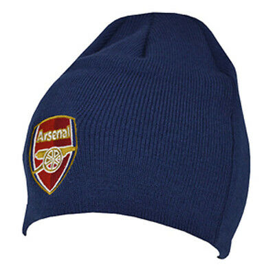 Arsenal Core Cap (ARSENAL FC NAVY COLOUR CORE BEANIE KNITTED HAT CAP WINTER FOOTBALL NEW XMAS)