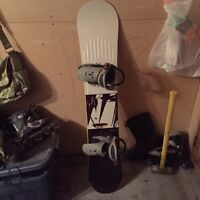 Snowboard, boots and bindings-good condition