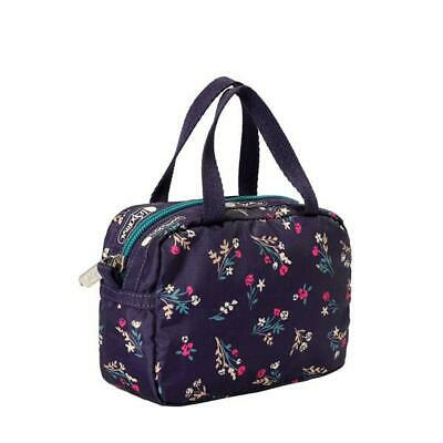LeSportsac Classic Collection Micro Bag Make Up Bag in Yucca Purple Bouquet NWT
