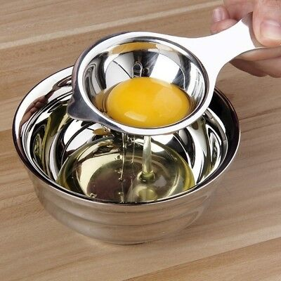 Home Stainless Steel Egg White Yolk Filter Separator Cooking Tool Kitchen Gadget