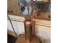 Copper fire extinguisher lamp. Bought to order