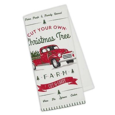 NWT DII Red Green White U-Cut Tree Farm RED Truck Christmas