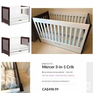 Baby Letto Mercer 3-in-1 crib