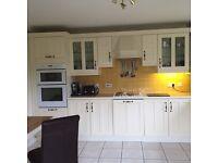 Complete kitchen as seen including all built in appliances (oven, hobs, fridge, freezer, dishwasher)