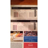 2 One Direction Tickets