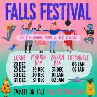 Falls Festival Byron Bay 3 day pass